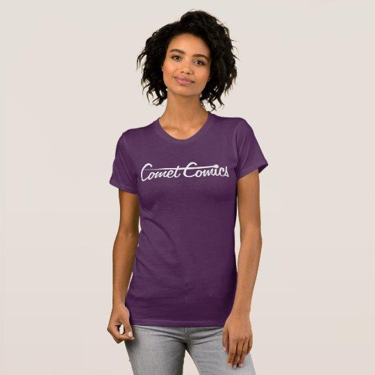 Comet Comics Logo - White T-Shirt