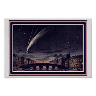 Comet Donati of 1838  13 x 19 Poster
