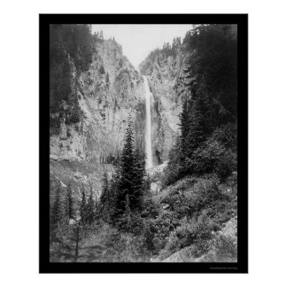 Comet Falls, Mount Rainier, WA 1922 Poster