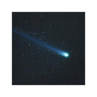 Comet in Night Sky Canvas Print