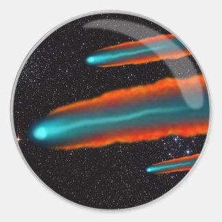 Comet Lens Round Sticker