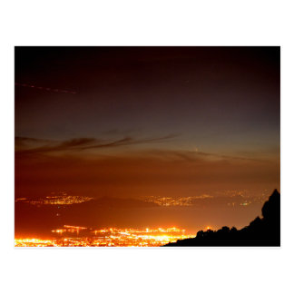 Comet Over The San Francisco Bay Postcard