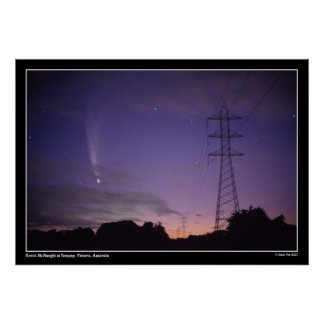 Comet & the Power Lines Poster