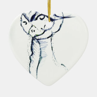 Comfort and Joy by Luminosity Ceramic Heart Ornament