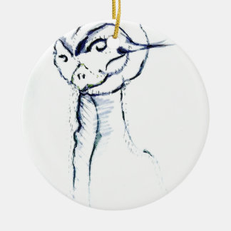 Comfort and Joy by Luminosity Round Ceramic Ornament