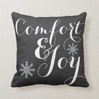Comfort and Joy Chalkboard Throw Pillow