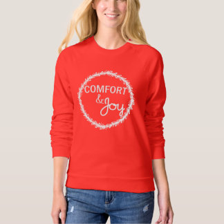 Comfort and Joy Christmas Wreath Sweatshirt