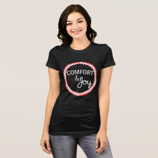 Comfort and Joy Christmas Wreath T-shirt