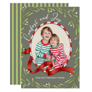 Comfort and Joy Holiday Photo Card