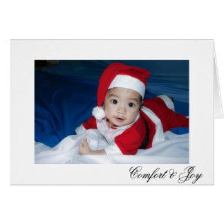 Comfort and Joy Simple Polka Dot Christmas Card