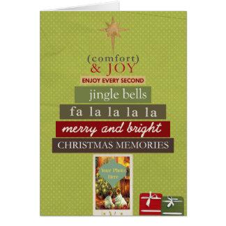Comfort and Joy Wordart Christmas Card