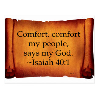 Comfort, Comfort My People Postcard