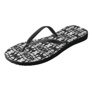 Comfort Flip Flops - Chat (Art Design-b)