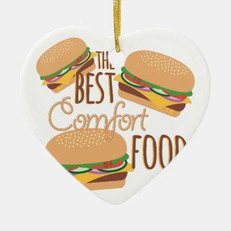 Comfort Food Ceramic Heart Ornament