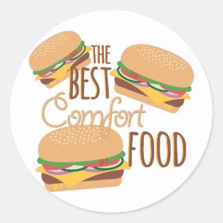 Comfort Food Round Sticker