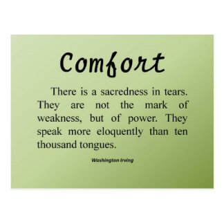 Comfort for Tears Postcard