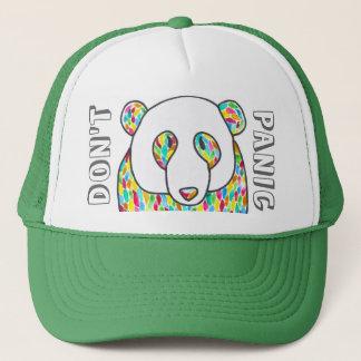 "Comfort Panda ""Don't Panic"" Snapback Trucker Hat"