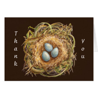 comfort zone nest thank you notecard