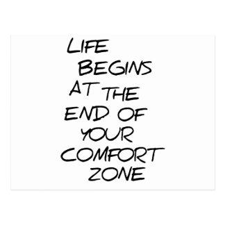 Comfort Zone Opinion Black Logo Funny Postcard