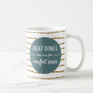 Comfort Zones Quote Coffee Mug