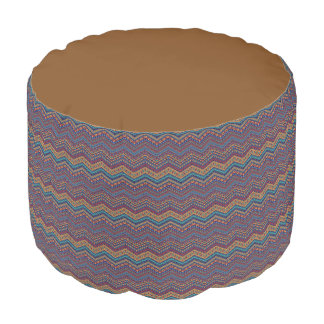 Comfortable and unique pattern Custom Sturdy  Pouf