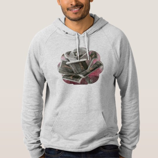 Comfortable, pretty and unglued print hoodie