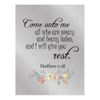 Comforting Encouraging Bible Verse Postcard