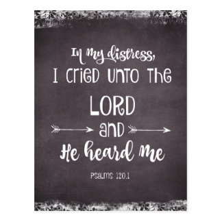 Comforting Psalms Bible Verse Postcard