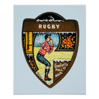 Comforts Of Fullback - Vintage Rugby Poster