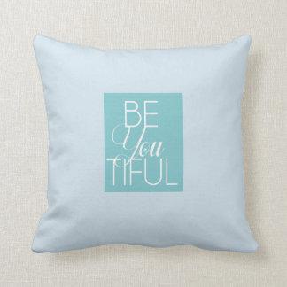 comfy blue be you tiful pillow