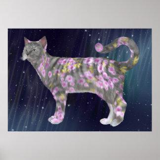 Comfy Coco Grey Cat Poster