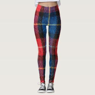 Comfy Hipster Legging Blue Red Plaid