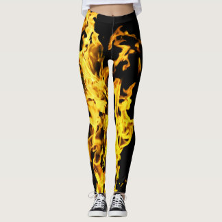 Comfy Hipster Leggings Fire Flames
