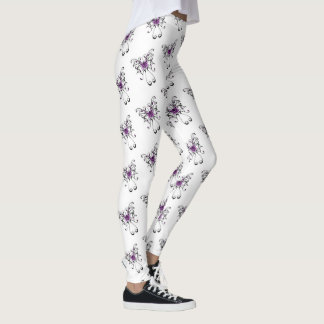 Comfy Hipster Leggings purple and black buttterfly