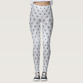 Comfy Hipster Leggings Quilted Button