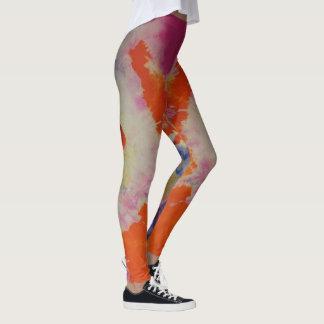 Comfy Hipster Leggings Retro Tie Dye