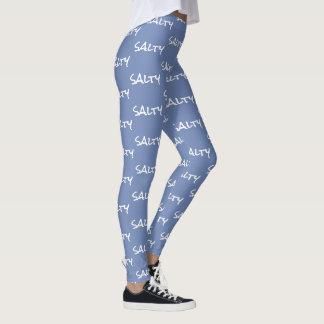 Comfy Hipster Leggings Salty on blue