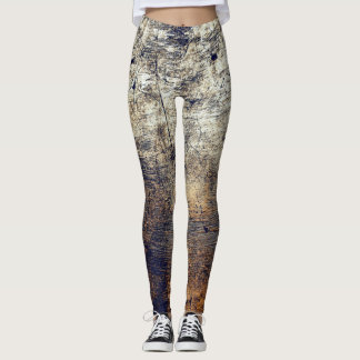 Comfy Hipster Leggings Wood, Realistic