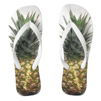 Comfy Personalized Pineapple Flip Flops
