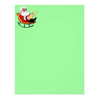 comfy santa claus reading letter letterhead template