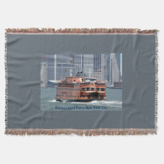 Comfy Staten Island Ferry Throw Blanket