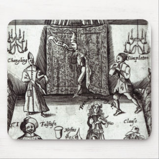 Comic Actors in Performance, 1662 Mouse Pad