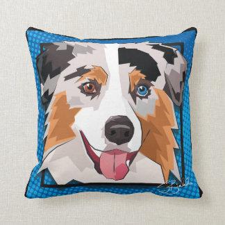 Comic Aussie Throw Pillow