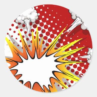 Comic balloon classic round sticker