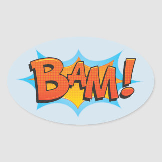 Comic BaM! Oval Sticker