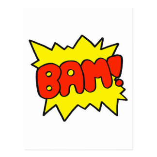 Comic 'Bam!' Postcard