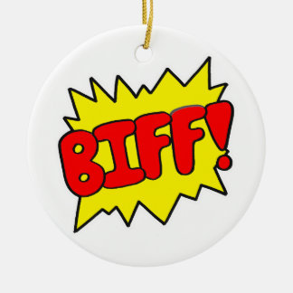 Comic 'Biff!' Christmas Tree Ornament