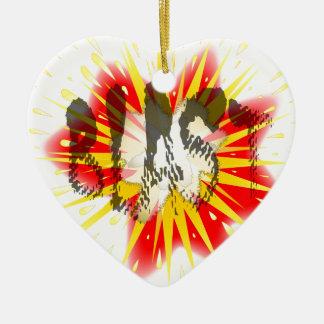 Comic Blast Ceramic Heart Ornament