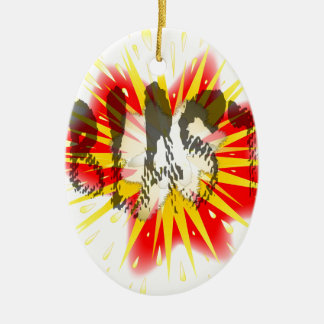 Comic Blast Ceramic Oval Ornament