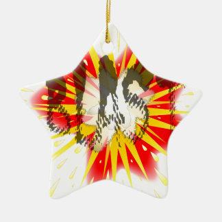 Comic Blast Ceramic Star Ornament